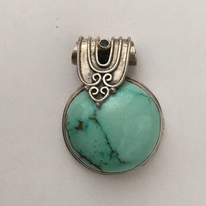 Turquoise & Sterling Silver Pendant